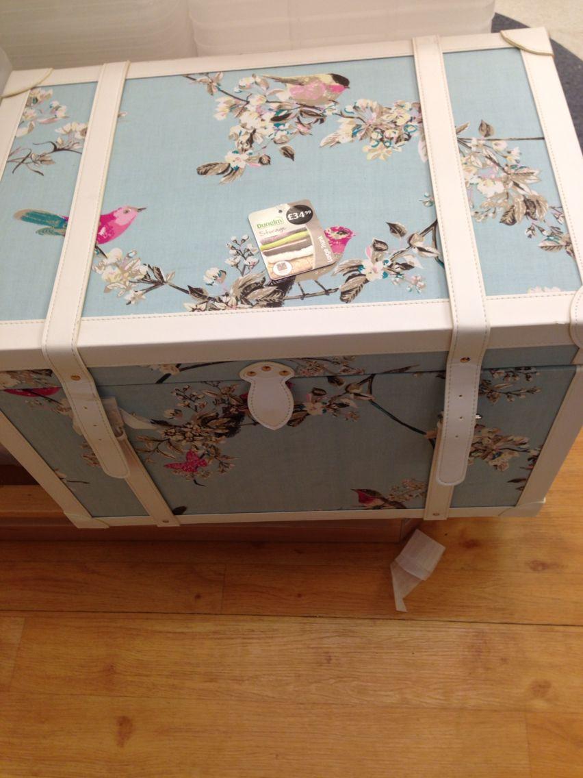 Dunelm duck egg storage box country cottage bedroom Pinterest