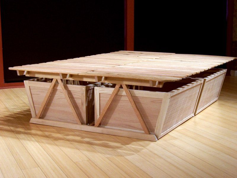 Diy Tall Bed Frame High Platform Bed Tall Bed Frame High
