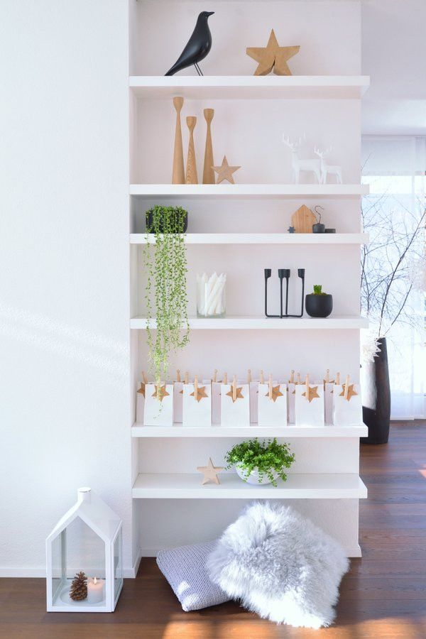 Great Idea To Make An Awkward Short Wall Into A Shelf Display Area
