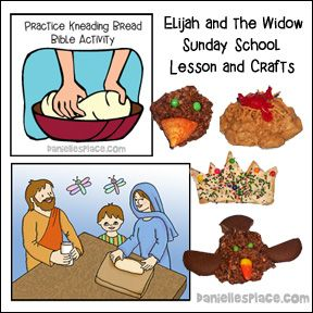 Elijah And The Widow Bible Lesson Crafts