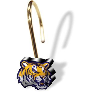 Ncaa Lsu Tigers Shower Curtain Rings Set Of 12 Lsu Tigers Lsu Shower Curtain Rings