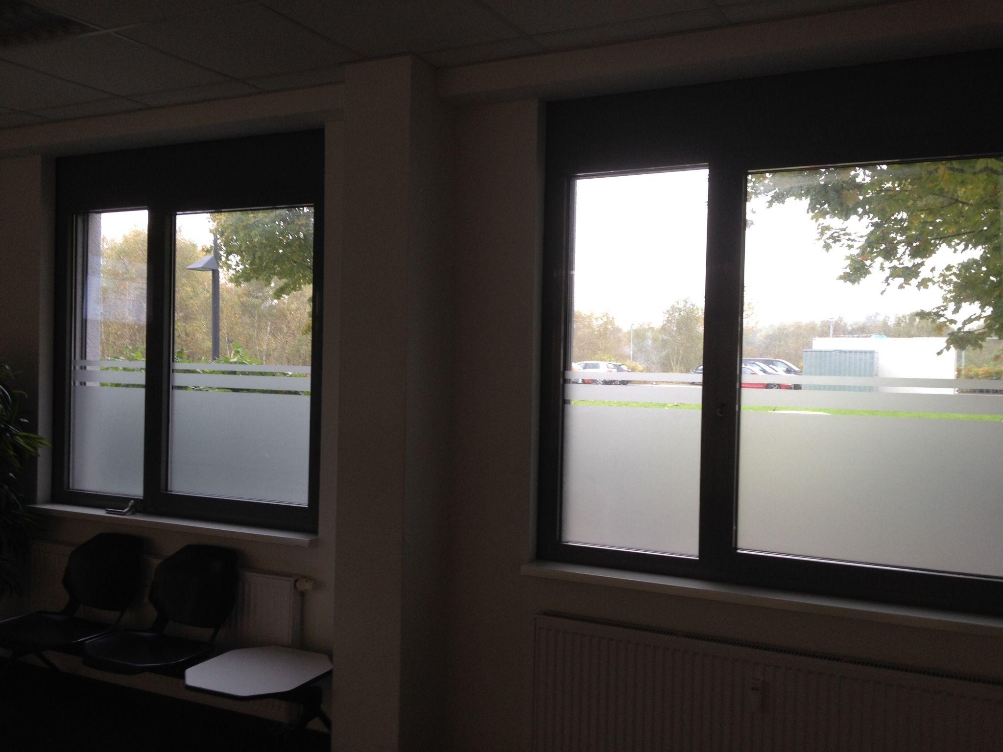Sichtschutzfolie transluzent mit Streifendesign für Bürofenster