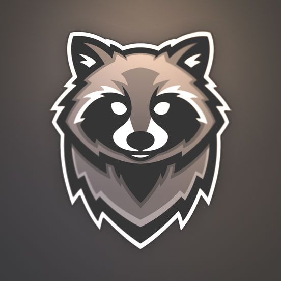 Raccoon logo by jolan w skillshare logo icons for Draw your own logo
