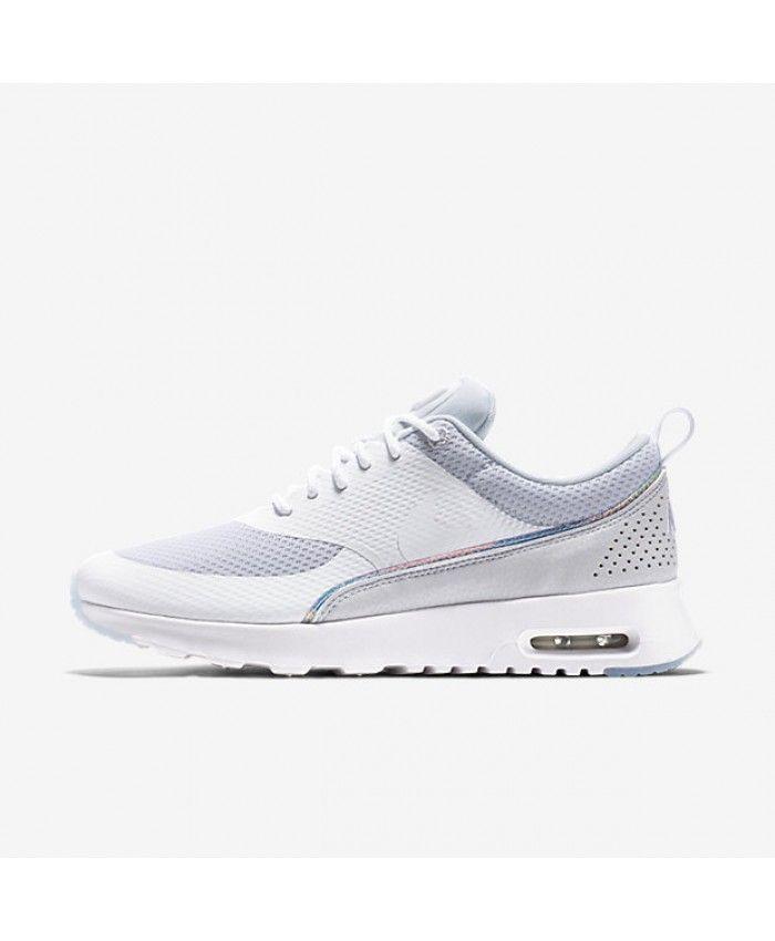 the latest 9ed10 d83cf Womens Nike Air Max Thea Premium White Blue Tint Shoe