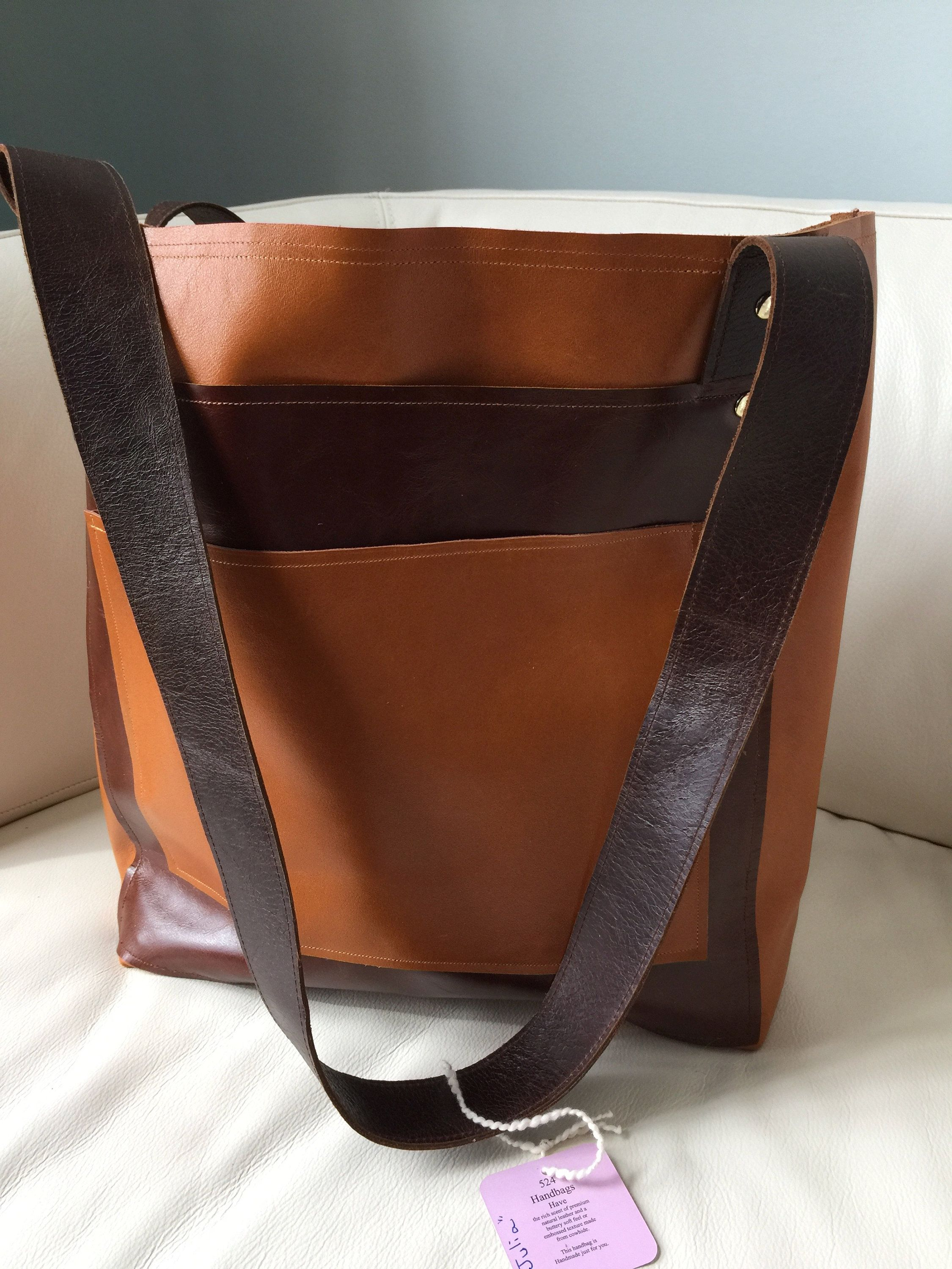 3f70d1972b Brown distress and Caramel Italian leather by 524HandbagsShop on Etsy