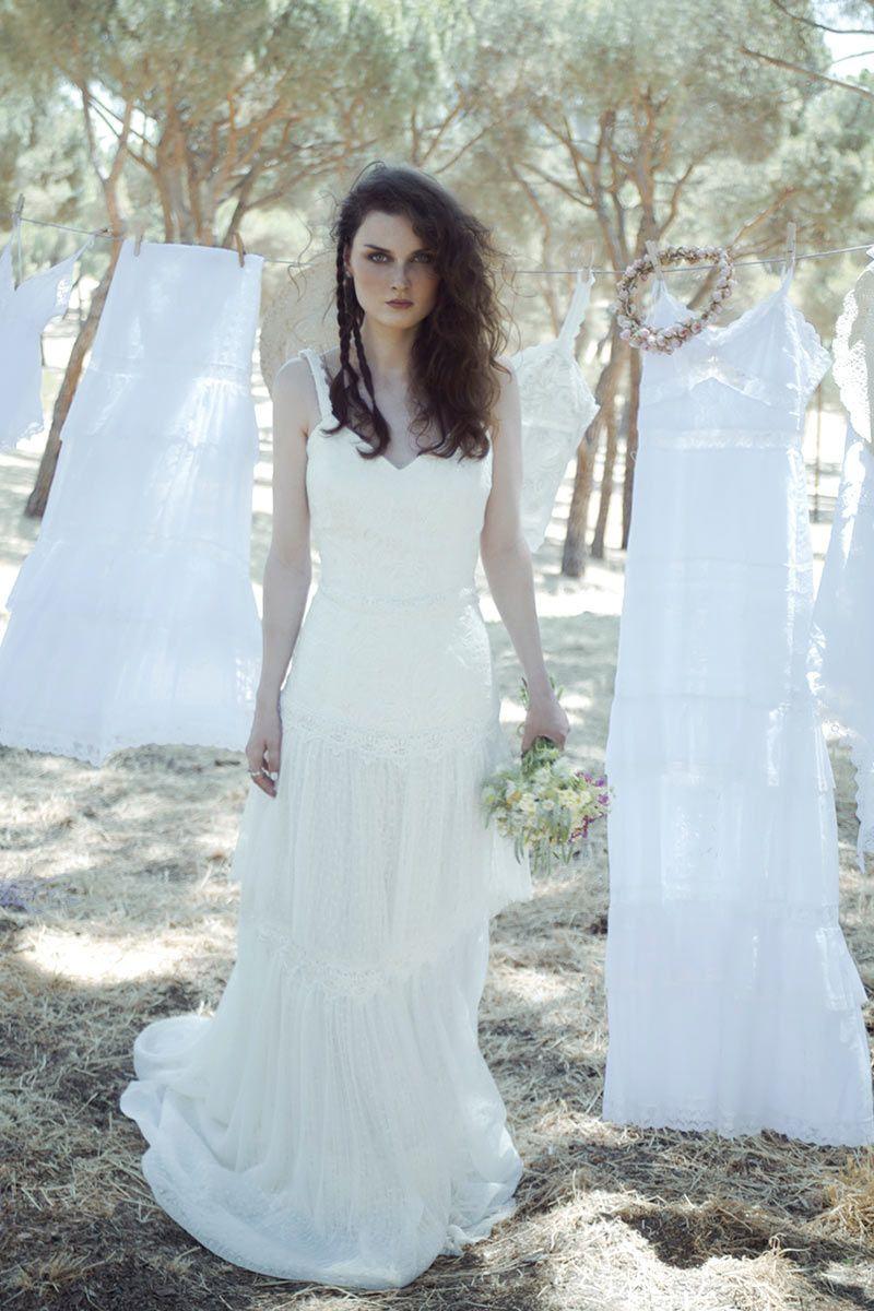 Vestidos perfectos para una novia boho | Luces, Las modelos y Los ...