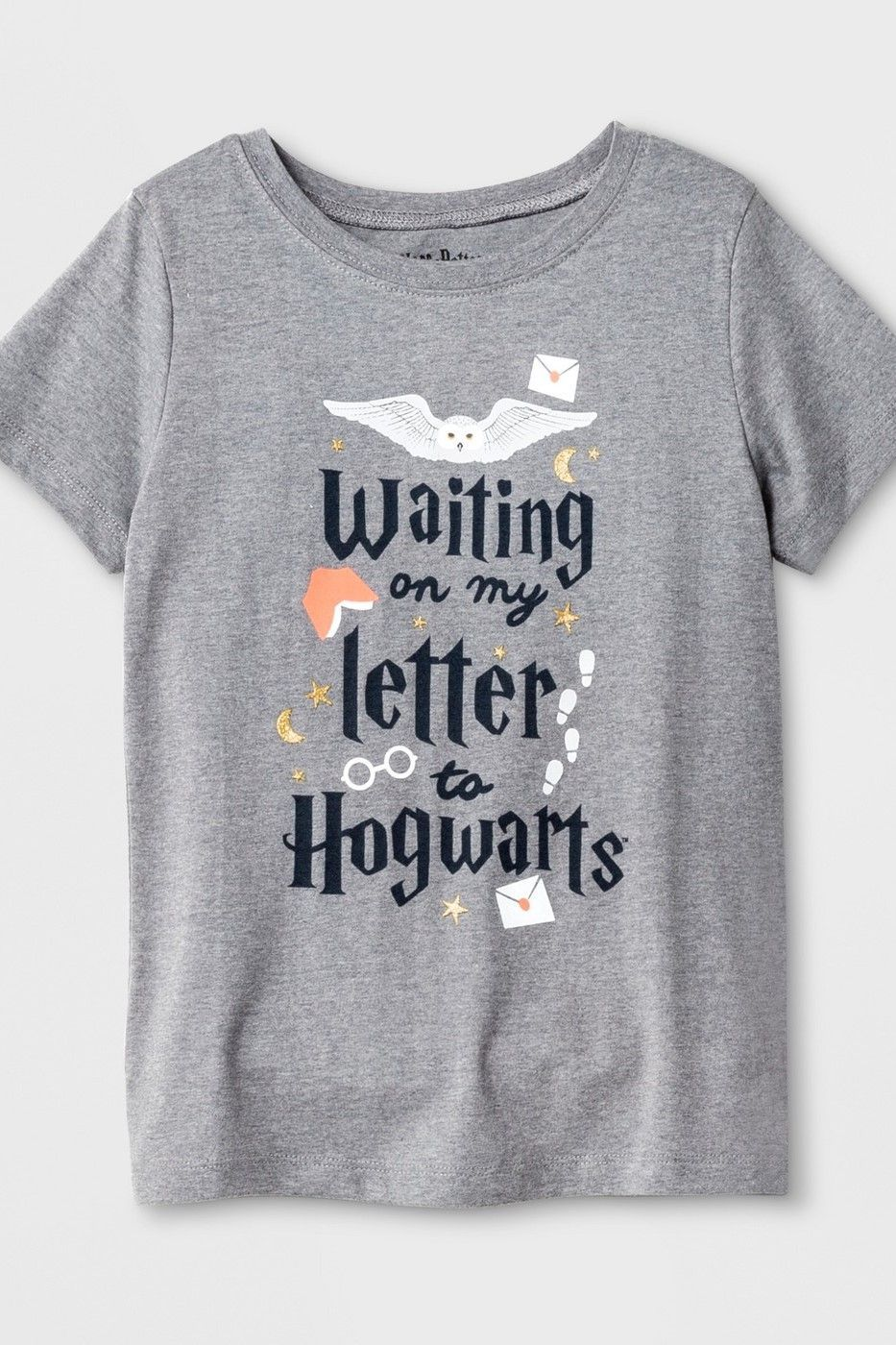 8e756582d Girls' Harry Potter Hogwarts Notes Graphic Short Sleeve T-Shirt - Heather  Gray | Kids Harry Potter Apparel | Click to shop now #ad #harrypotter