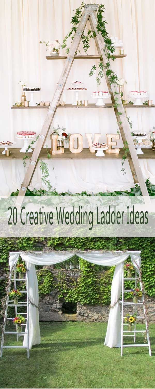 Wedding decorations ideas at home   CREATIVE SHABBY CHIC LADDER WEDDING DECORATION IDEAS  Wedding