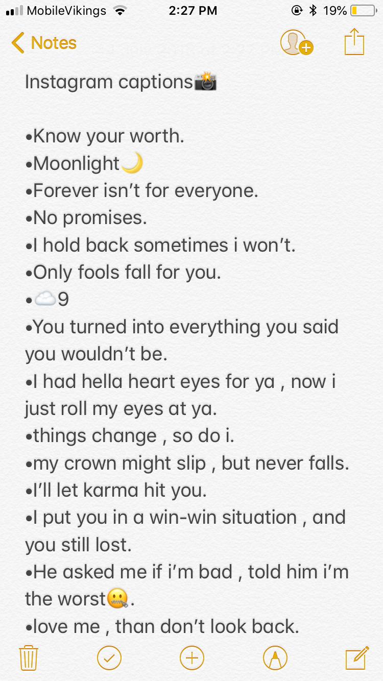 Instagram captions. | Instagram quotes, Instagram quotes ...