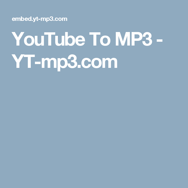 Yt to mp3