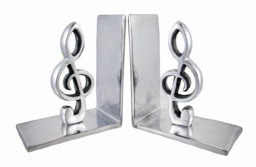 Pair Of Decorative Polished Aluminum Treble Clef Bookends Things2die4 Http Www Dp B009sapt Bookends Gift For Music Lover Kitchen Accessories Decor