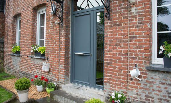 Porte d 39 entr e mixte alu bois ext rieur maison pierret - Porte d entree mixte alu bois ...