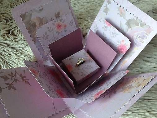 MariKlimo / Škatuľka na zásnubný prsteň