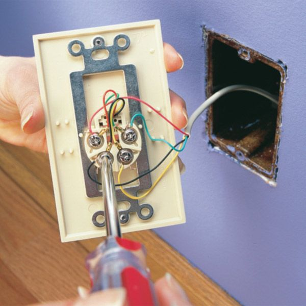 replace a wall phone jack and phone jack wiring  wall phone