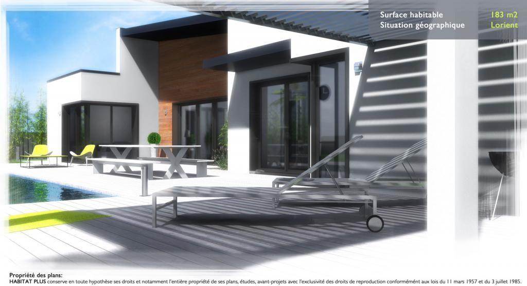 Création architecturale Habitat Plus APS742B de 183 m² habitables à