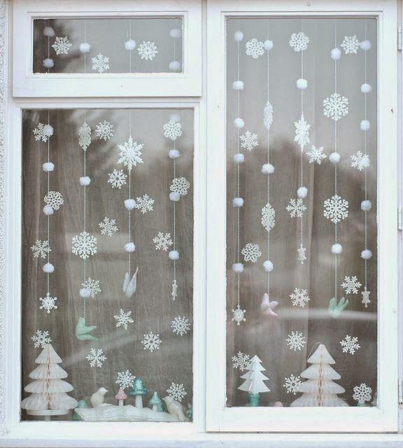 Adornos navidenos caseros para ventana