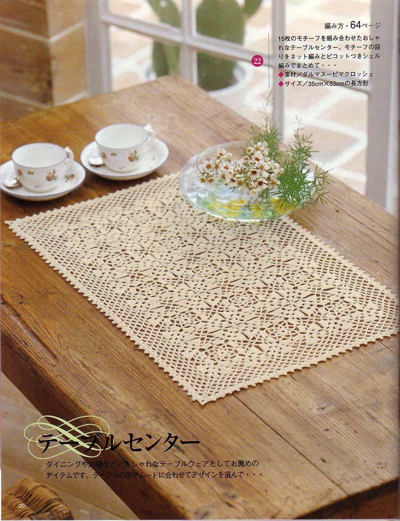 Square Crochet Doily Pattern | Doilies | Pinterest | Häkeldeckchen ...