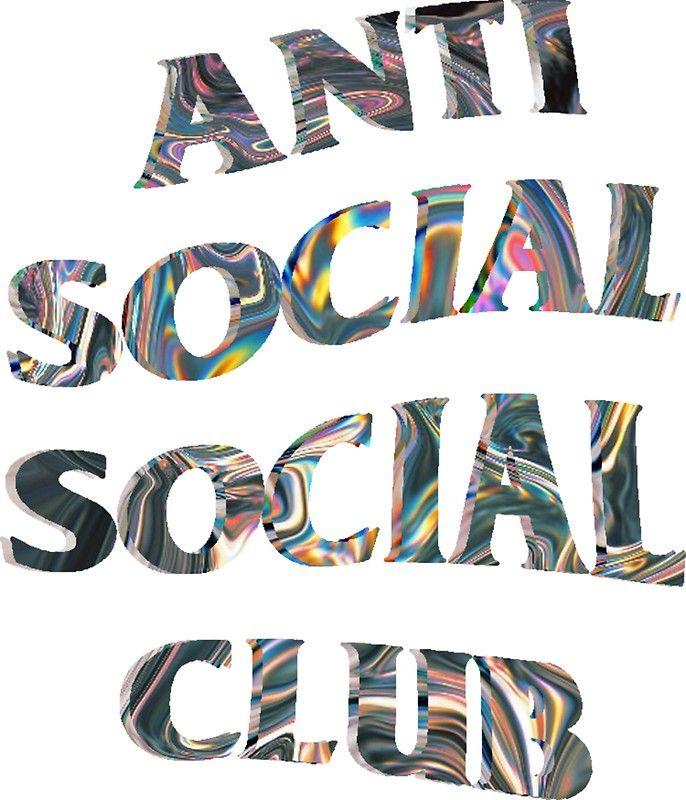Anti Social Social Club Trippy Iridescent Wavy Logo Anti