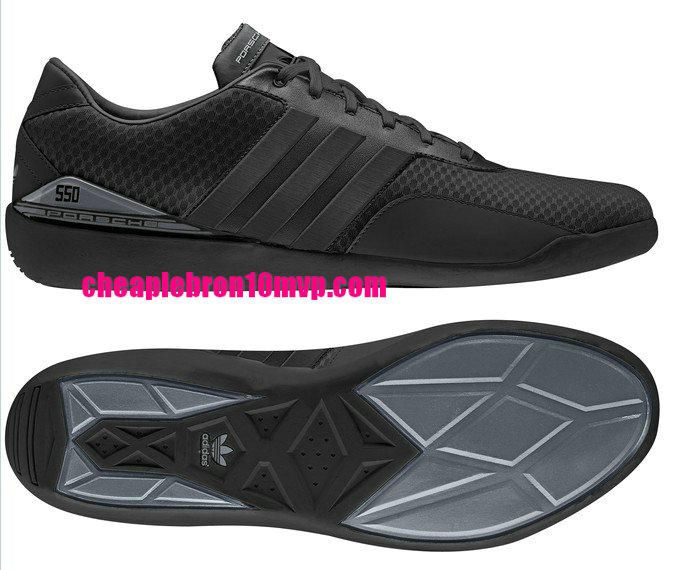 Adidas Running Porsche 550 Mens Shoes Black Silver Black Q23151  -$61.53|Cheap Adidas Sneakers