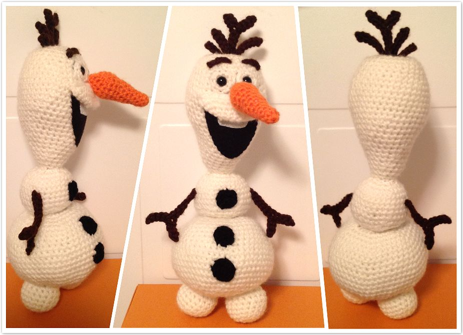 Amigurumi Olaf Tutorial : Pattern u2013 crochet amigurumi olaf the snowman from disney movie