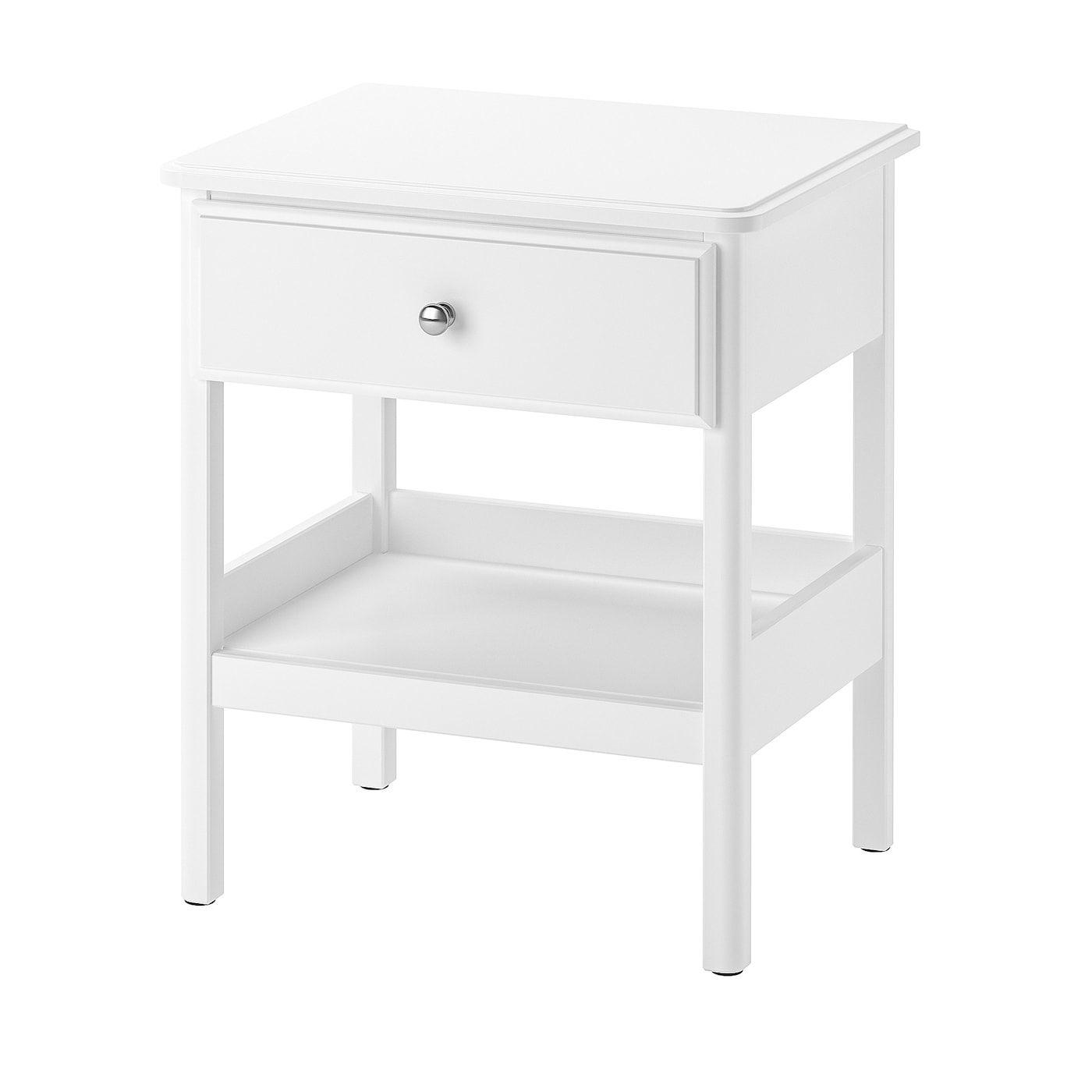 Tyssedal Mesita De Noche Blanco 51x40 Cm Ikea En 2020 Table De Chevet Blanche Chevet Blanc Table De Chevet