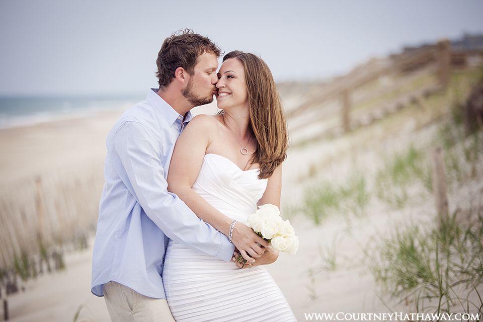 www.courtneyhathaway.com l Outer Banks Wedding, OBX Wedding, Beach Wedding, Destination Wedding, Wedding Photos, Bride & Groom, Wedding Portraits, Wedding Beach Portraits, Bride, Groom, wedding photos on beach