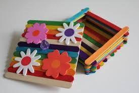 72 X Color De Madera Niños Artesanía lolly palos Artes plana