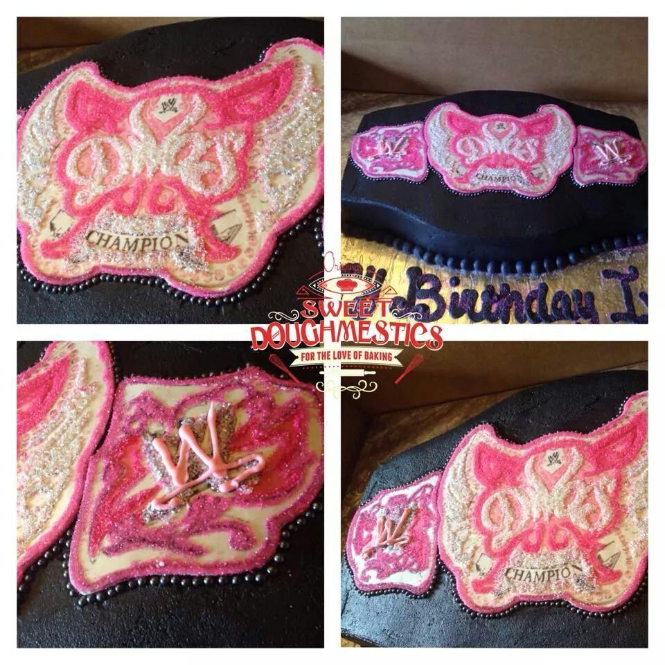 WWE Divas Belt Cake birthday Pinterest