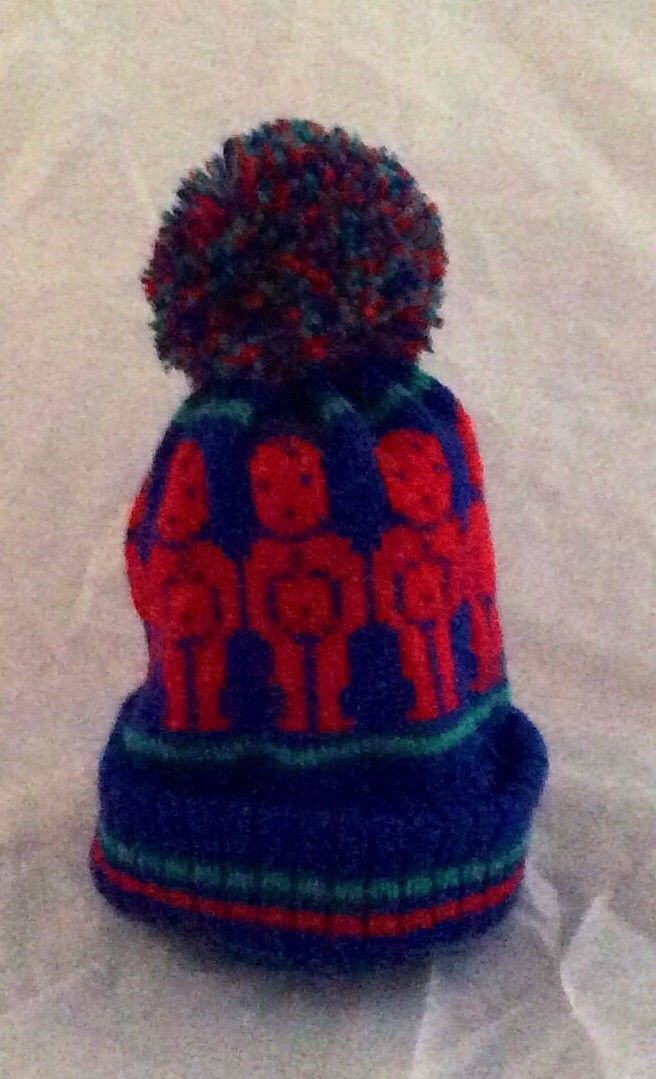 Jelly baby hat via Anne Margaret designs children s machine knitwear. Click  on the image to see more! ae125e00966