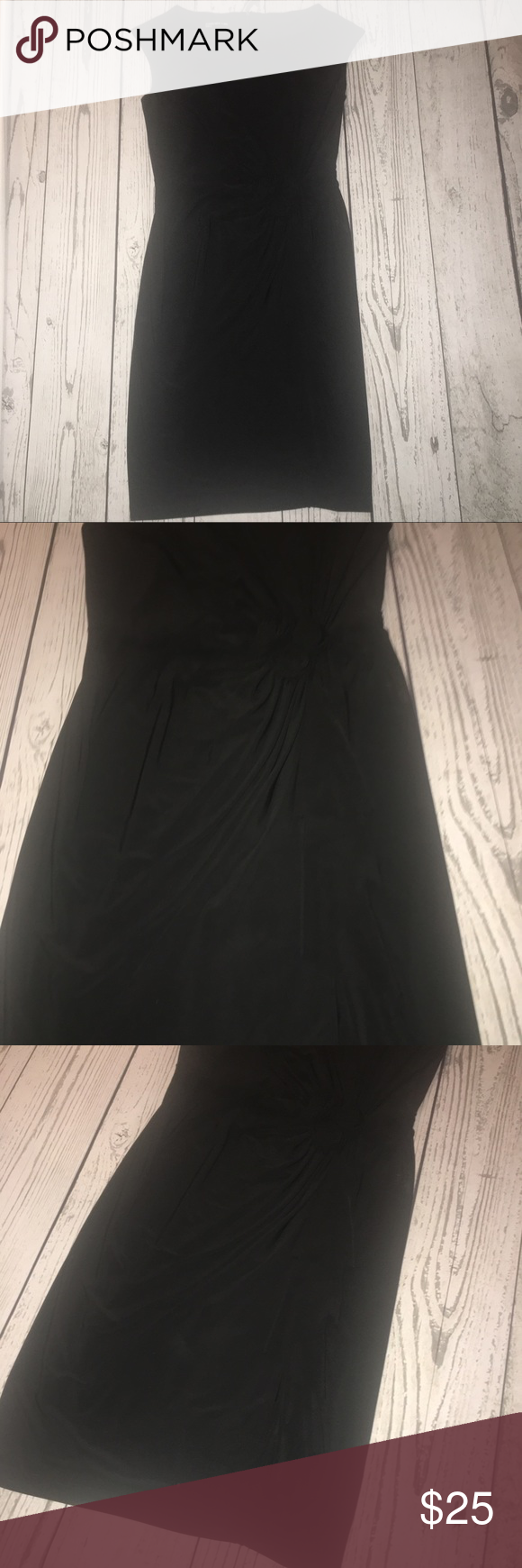 Jones new york black ruffle dress wrosettes in my posh