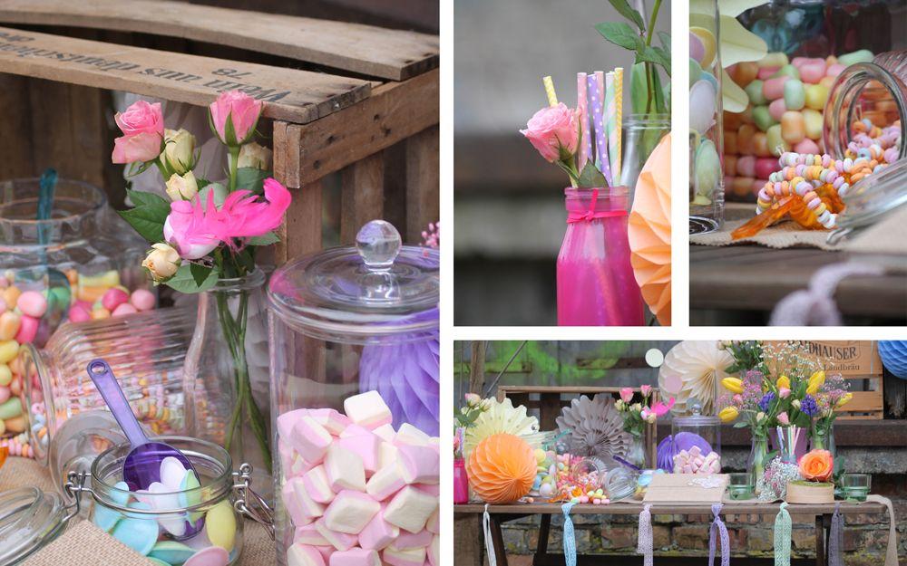 Das Must Have Zur Happy Vintage Hochzeit Eine Lecker Bunte Candy