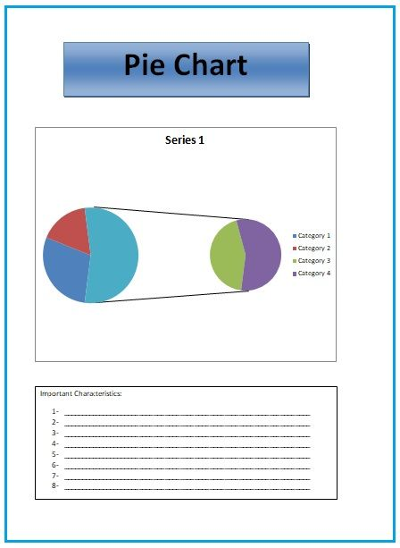 Pie Chart Templates 4 Printable Pdf Excel Word Sampleformats