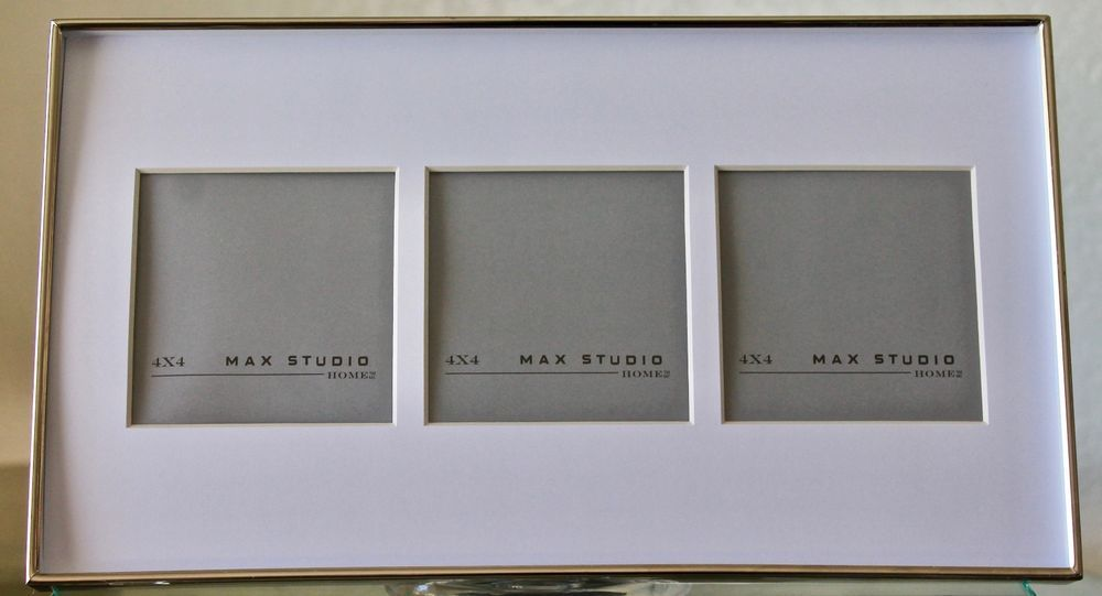 Max Studio Home Picture Frame 4 X 4 Multiple Photo Matted Metal