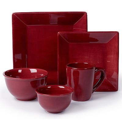 Kohls Christmas Dishes.These Are My Corsica Cherry Red Dishes I Absolutely Love