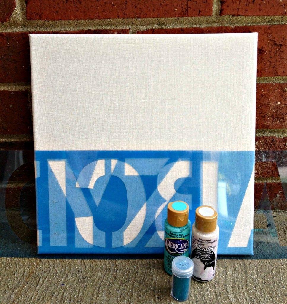 Dreamsicle Sisters: DIY Baby Shower Canvas Art