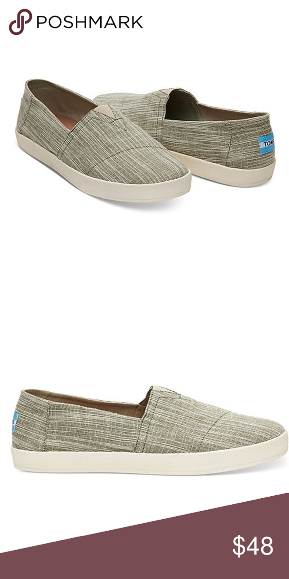 a8b79168175 NEW Toms Army Green Microstripe Avalon Slip-on These are brand new without  tags!   Please note that they are a men s size 7 which is the equivalent of  a ...