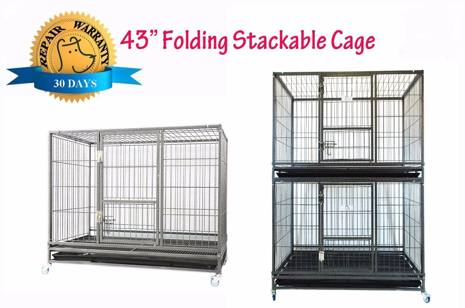 Cages and Crates 121851 New Homey Pet 43 Stackable Heavy
