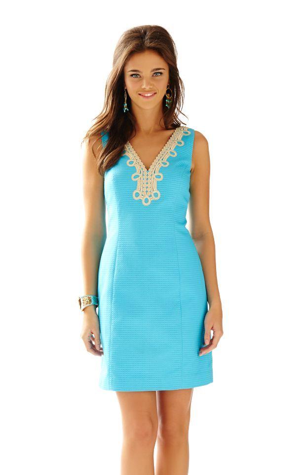 Bentley V-Neck Shift Dress - Lilly Pulitzer Searulean Blue ...