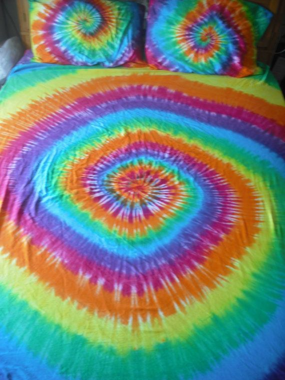 a18d49cf2f39cc Tie dye Queen bed sheet set by DoYouDreamOutLoud on Etsy