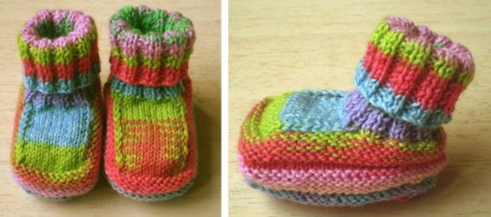 These Fun And Colorful Knitted Baby Booties Are A Great Way Of Using