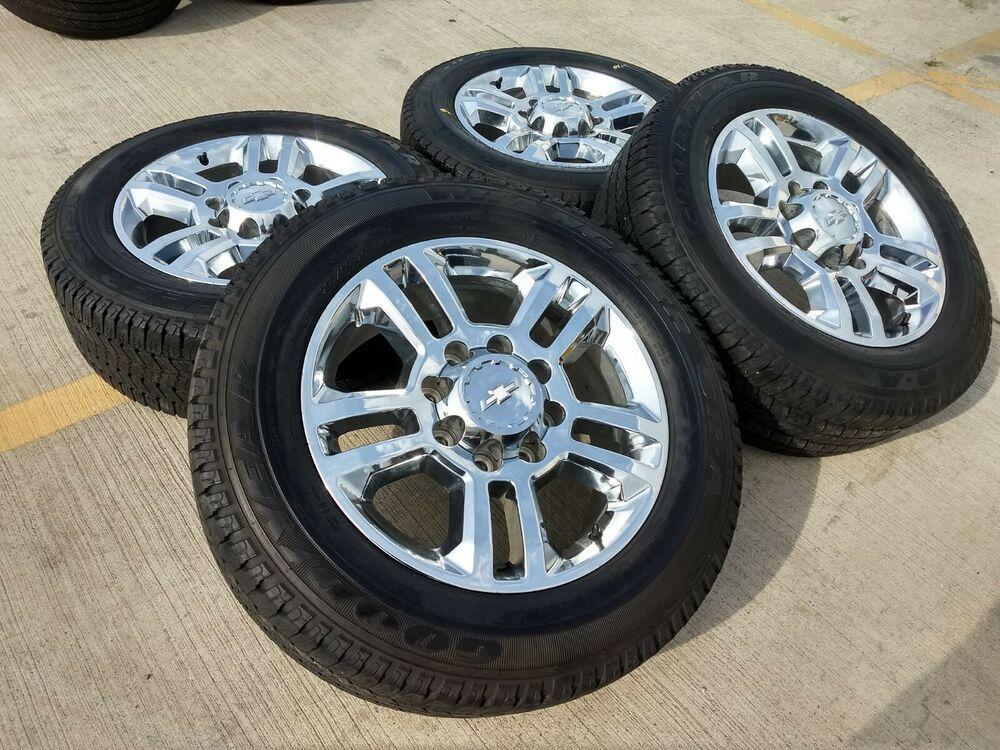 Advertisement Ebay 20 Chevy Silverado High Country 2500 Chrome Oem Wheels Rims Tire 5705 2018 2019 Chevy