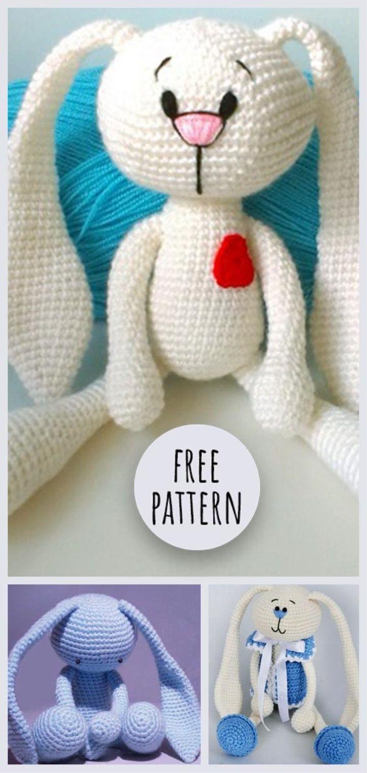 Classic Bunny Amigurumi   Fun Stuff for Barbi   Pinterest   Patrones ...