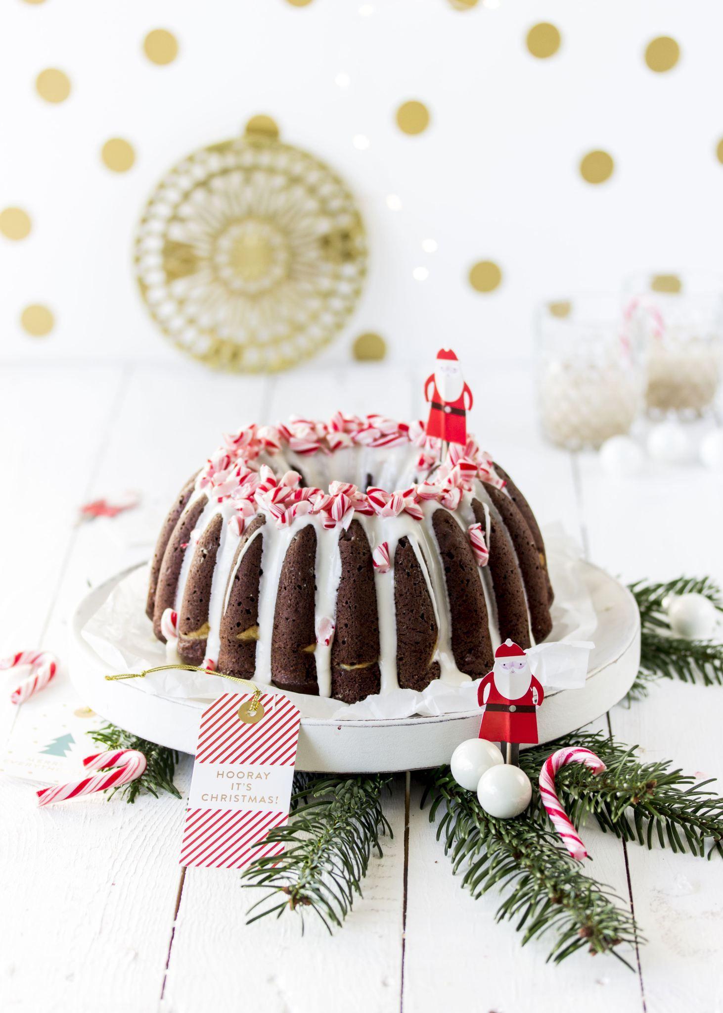 Weihnachtsgugelhupf mit Irish Cream Liqueur und Cheesecakefüllung ...
