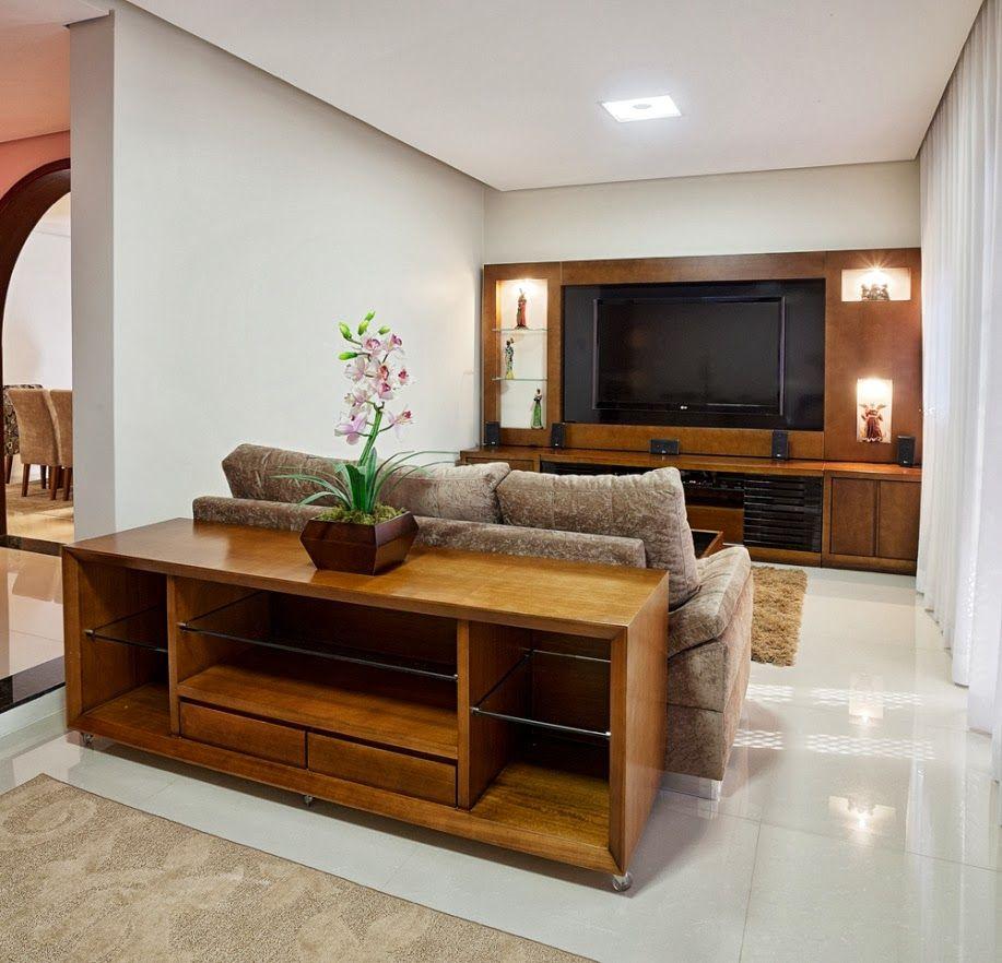Decor Salteado Blog de Decoraç u00e3o e Arquitetura Móveis para decorar atrás do sofá! Aparador  -> Decoração Aparador Atras Do Sofa