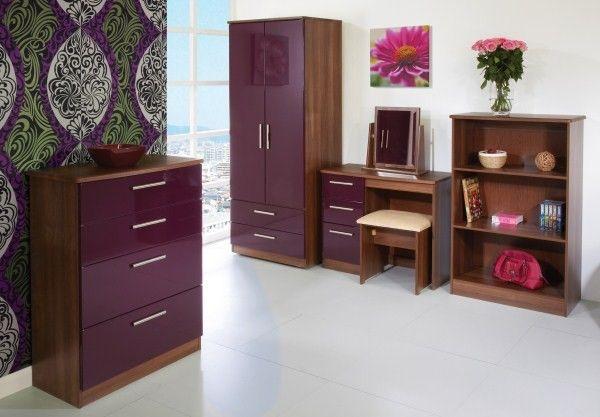 Purple High Gloss Bedroom Furniture Collections Bedroom Design