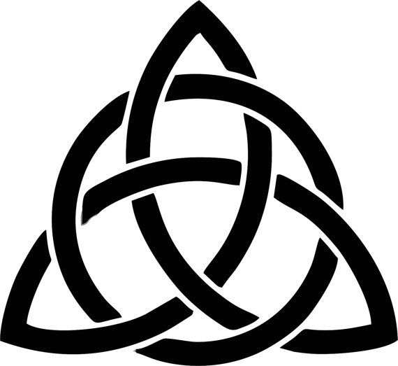 Solid Triquetra Vinyl Sticker Decal Goddess Wicca Pentacle Occult New Age
