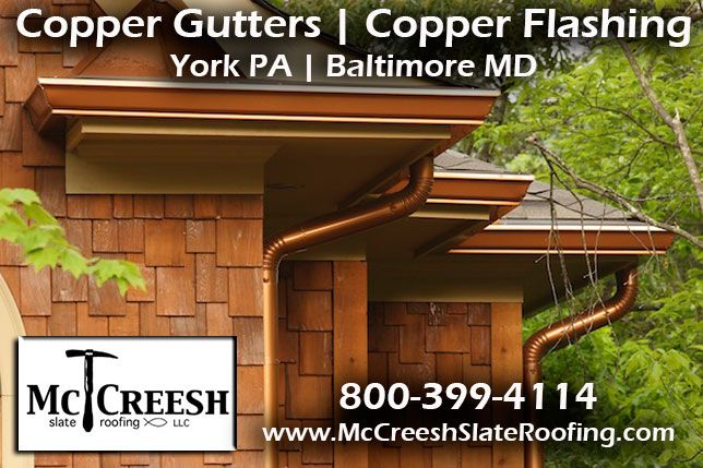 Http Mccreeshslateroofing Com Copper Html A Copper Roof Is Lightweight Durable And Long Lasting Mccreesh Slate R Gutters Copper Roof How To Install Gutters