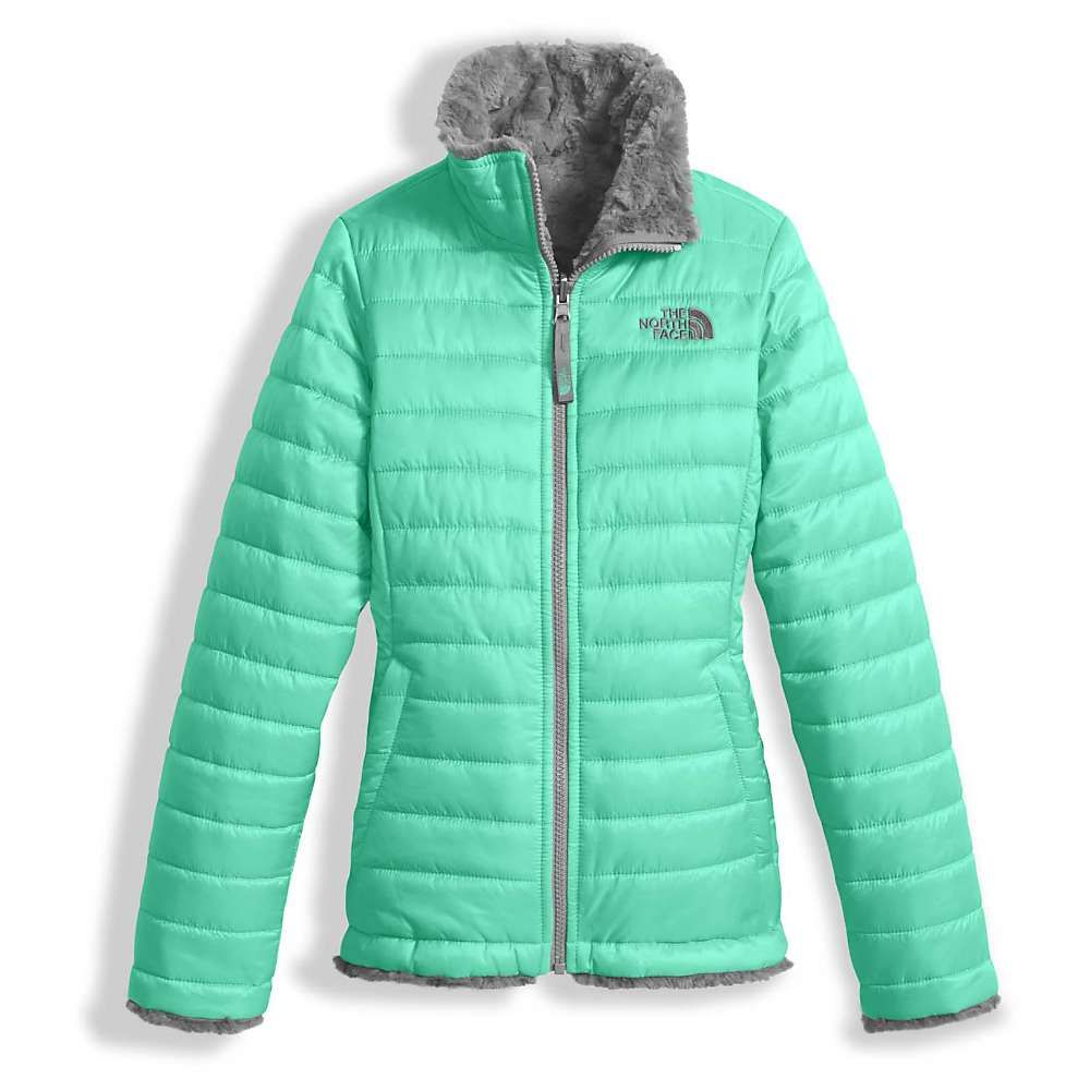 ceada9c73 The North Face Girls' Reversible Mossbud Swirl Jacket - Large - Bermuda  Green