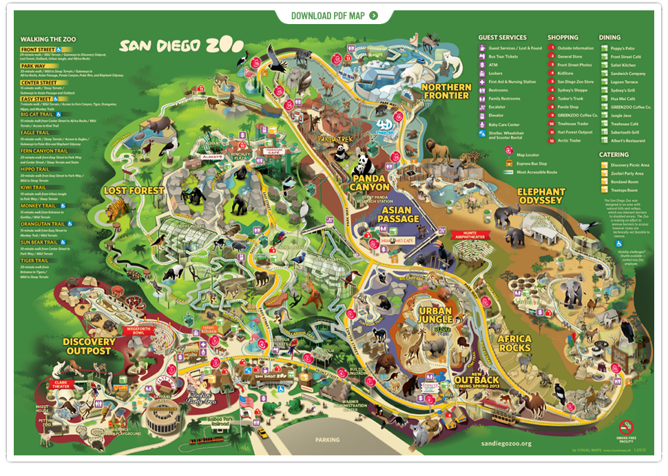 I hate going to a Zoo Least favorite onethe DC National Zoo – Tourist Attractions Map In San Diego