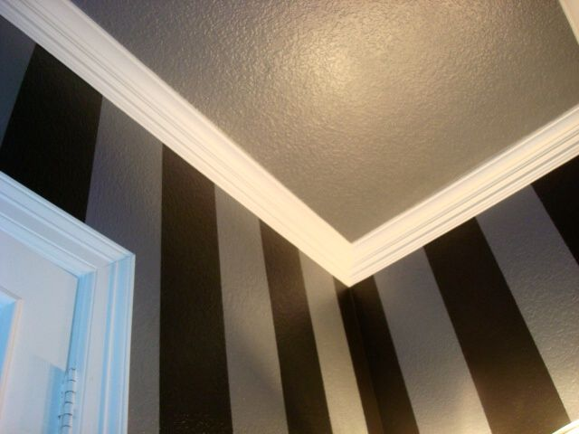 Metallic Antiqued Silver And Black Stripes With Matching